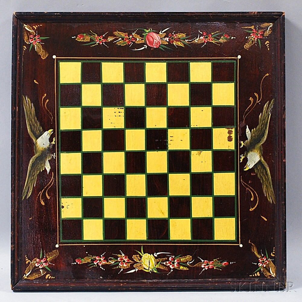 Victorian Paint-decorated Game Board