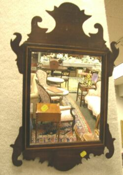 Chippendale Inlaid Mahogany Mirror.