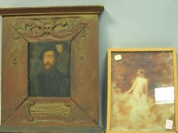 Two Framed Oil Figural Works.