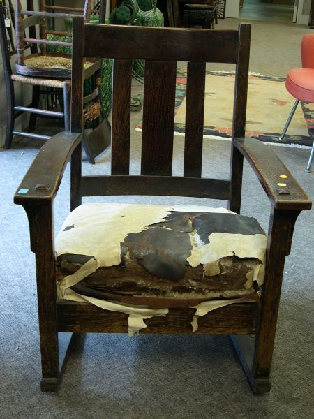 Arts & Crafts Oak Armrocker.