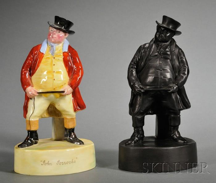 Two Wedgwood Figures of John Jorrocks