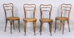Four Bentwood Side Chairs