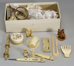 Large Lot of Assorted Ivory Pieces