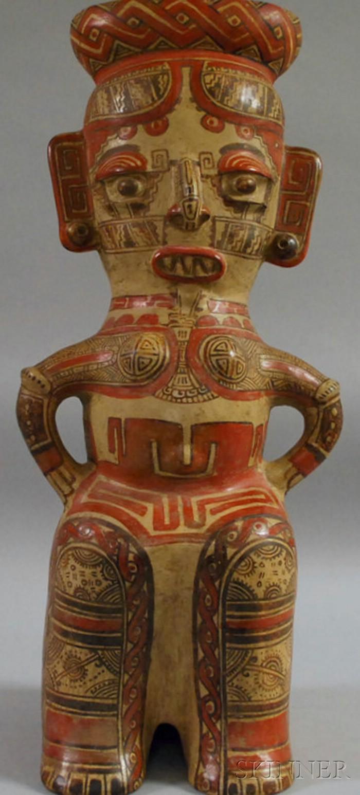 Costa Rican Female Pottery Vessel