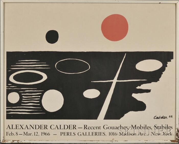 Alexander Calder (American, 1898-1976) Perls Galleries Exhibition Poster for Alexander Calder-Recent Gouaches, Mobiles, Stabiles, Fe...