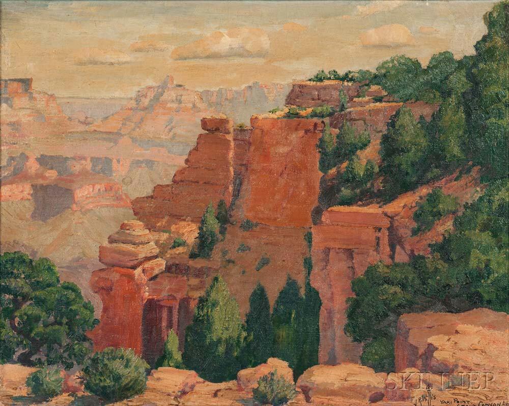 Joseph Roy (J.R.) Willis (American, 1876-1960)      Yaki Point, Grand Canyon