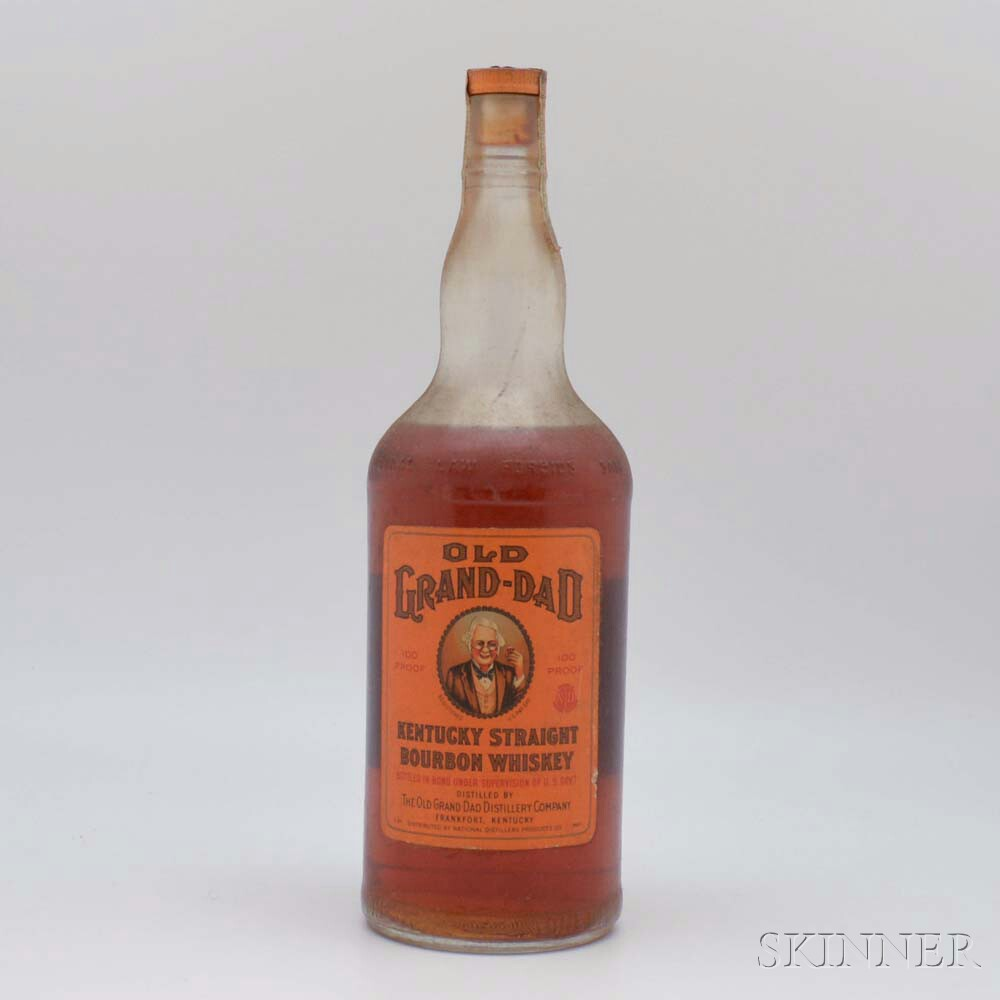 Old Grand Dad 4 Years Old 1955, 1 quart bottle