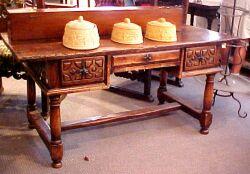 Iberian Baroque-style Hardwood Center Table.