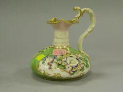 Crown Derby Floral Encrusted Porcelain Cruet.