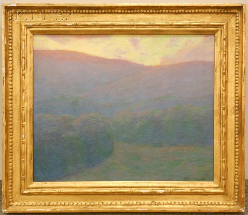 Horace Brown (American, 1876-1949)      Sunlight over Vermont Hills