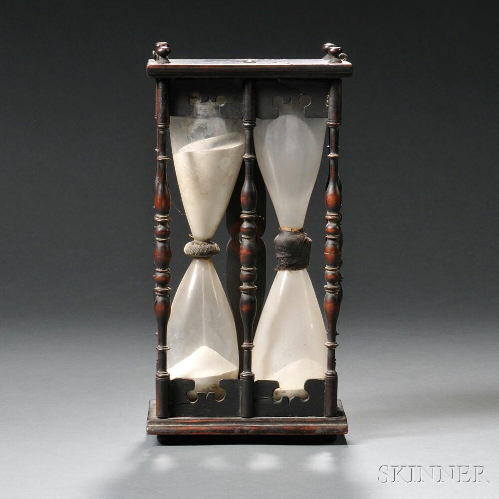 Oak and Glass Double Hourglass