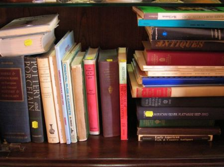 Collection of Antiques and Fine Art Reference Books and Auction Catalogs.