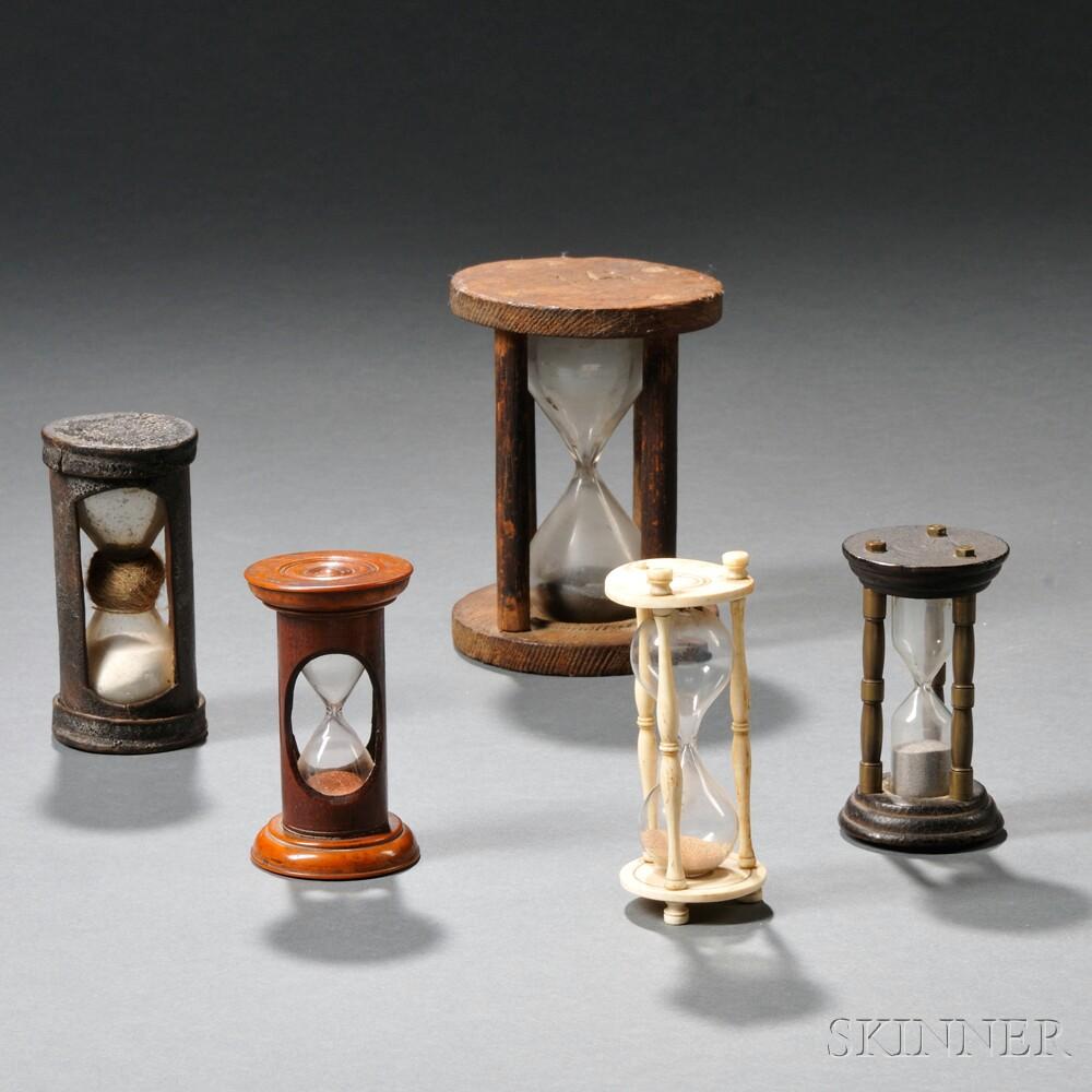 Five Small Hourglasses