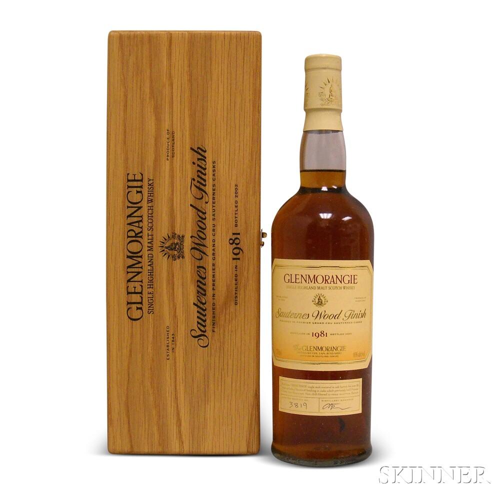 Glenmorangie Sauternes Wood Finish 1981, 1 750ml bottle (owc)