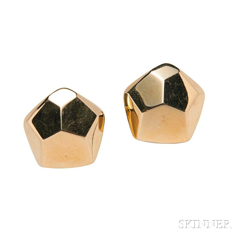 18kt Gold Earrings, Tiffany & Co.