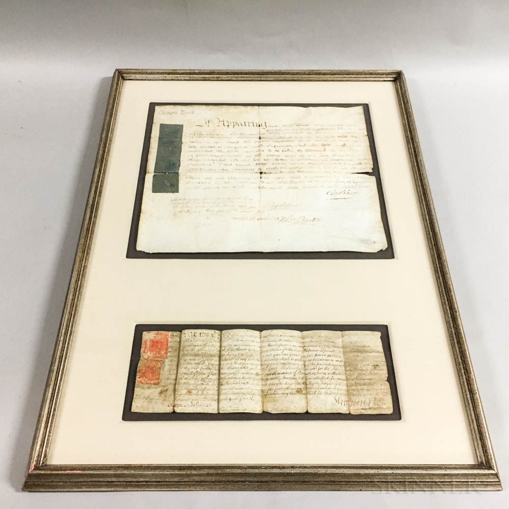 Two Framed 18th Century English Documents