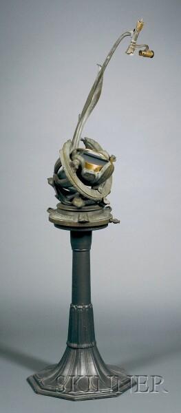 Rare Bronze Art-Nouveau Porter Garden Telescope
