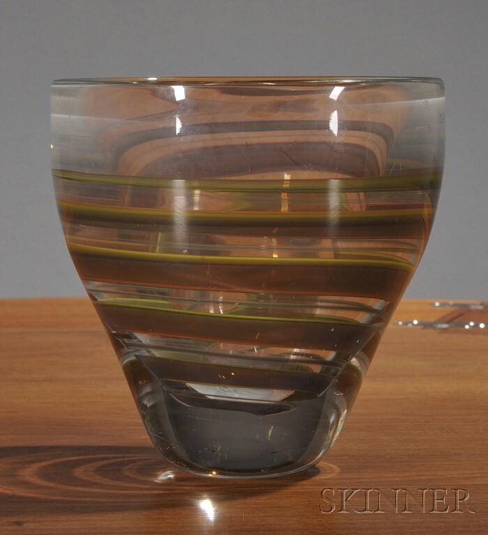 Leerdam Art Glass Bowl