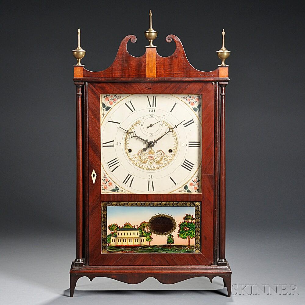 Seth Thomas Off-center Pillar and Scroll Clock