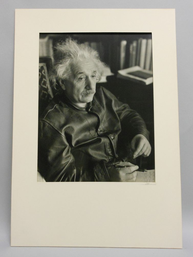 Lotte Jacobi (American, 1896-1990)      Albert Einstein at His Home in Princeton, New Jersey