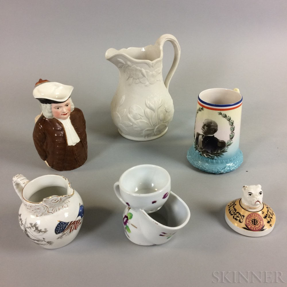 Six Pieces of American Pottery and Porcelain