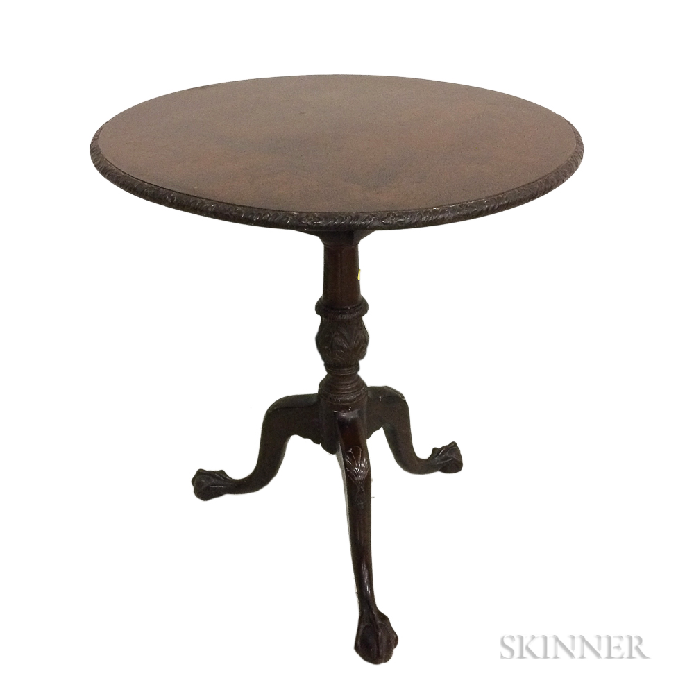George III Mahogany Tilt-top Birdcage Tea Table