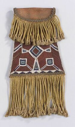 Southern Plains Beaded Leather Pouch