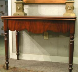 Classical Revival Mahogany Games Table.