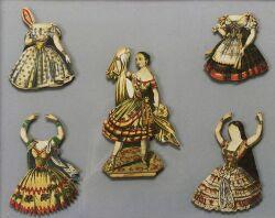 Framed Fanny Elsler Paper Doll