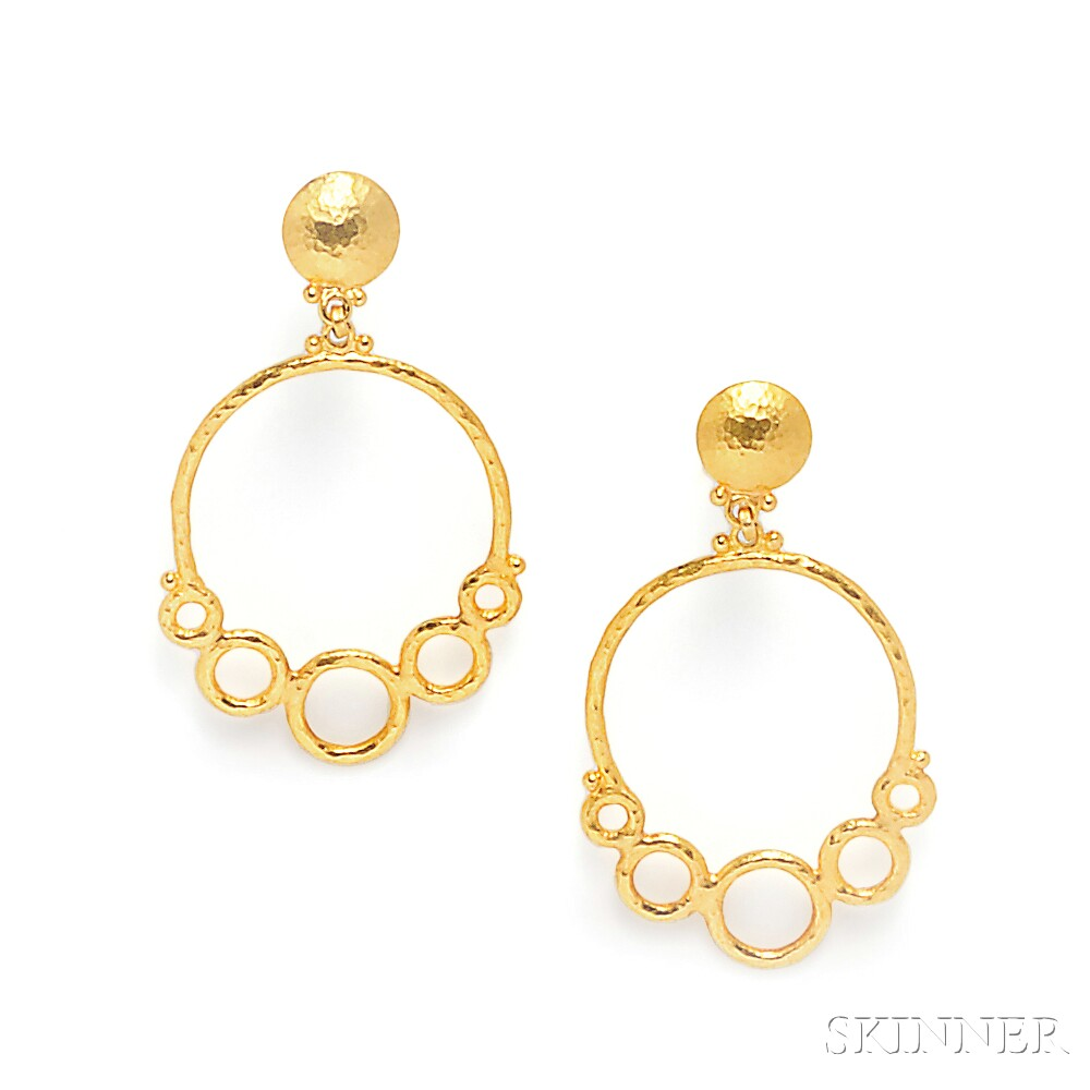 "24kt Gold ""Geometry"" Earpendants, Gurhan"