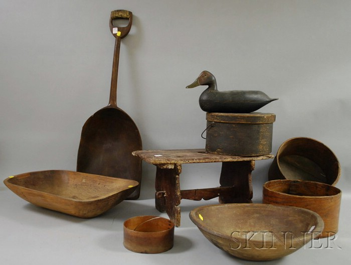 Group of Country Wooden Articles