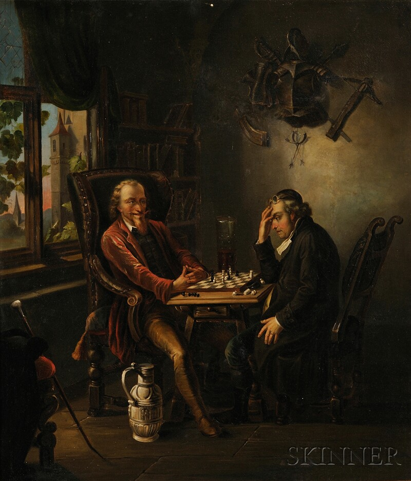 Continental School, 19th Century      The Chess Game