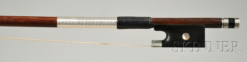 French Nickel Mounted Violin Bow, Jerome Thibouville-Lamy, c. 1950