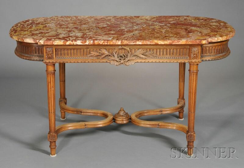 Louis XVI-style Oak Writing Table
