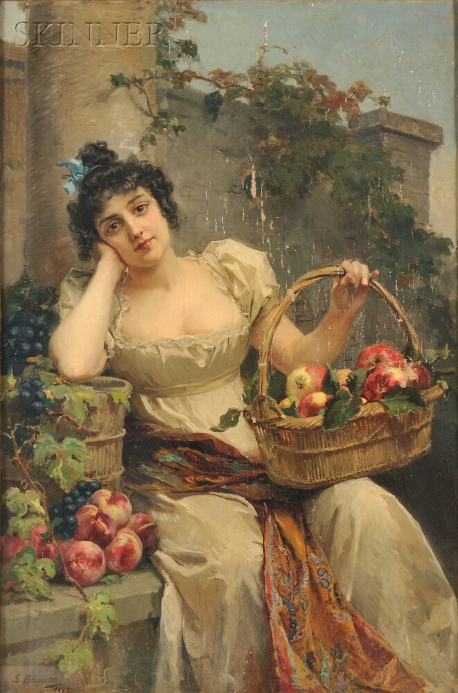 Anglo/American School, 19th Century      The Apple Gatherer