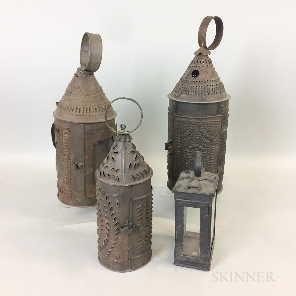 Four Tin Lanterns