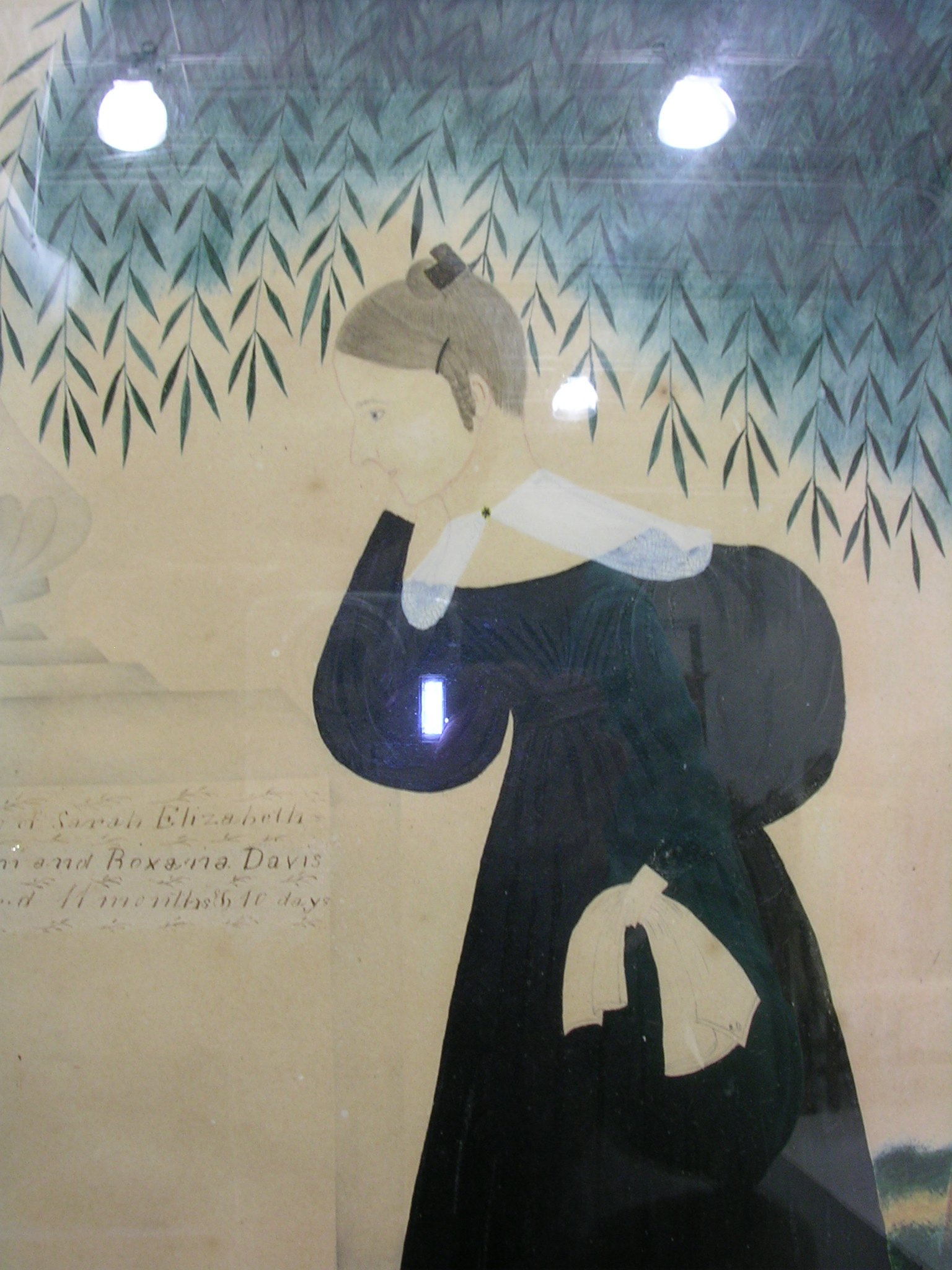 American School, 19th Century      Mourning Picture.