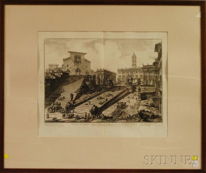 Giovanni Battista Piranesi (Italian, 1720-1778)      Veduta del Romano Campidoglio.../Architettura di Michelangelo Bonaroti
