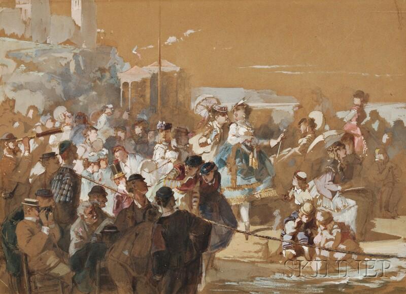 Continental School, 19th Century      A Festive Promenade