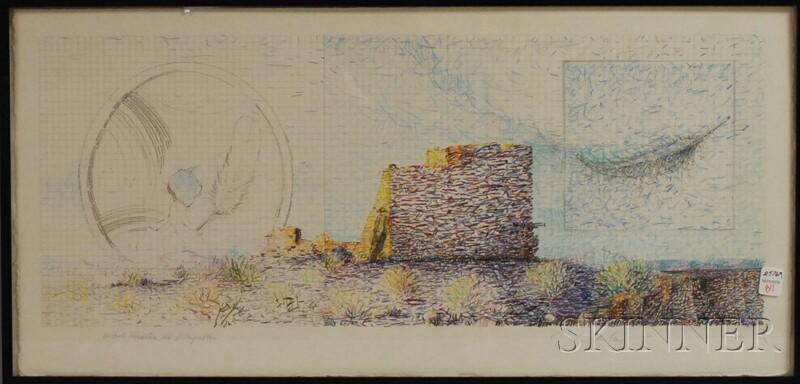 Donald Munson (American, 20th/21st Century)      White Feather at Wupatki