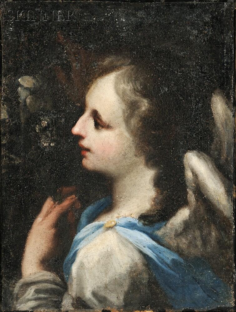 School of Federico Barocci (Italian, 1528-1612)      Angel of the Annunciation