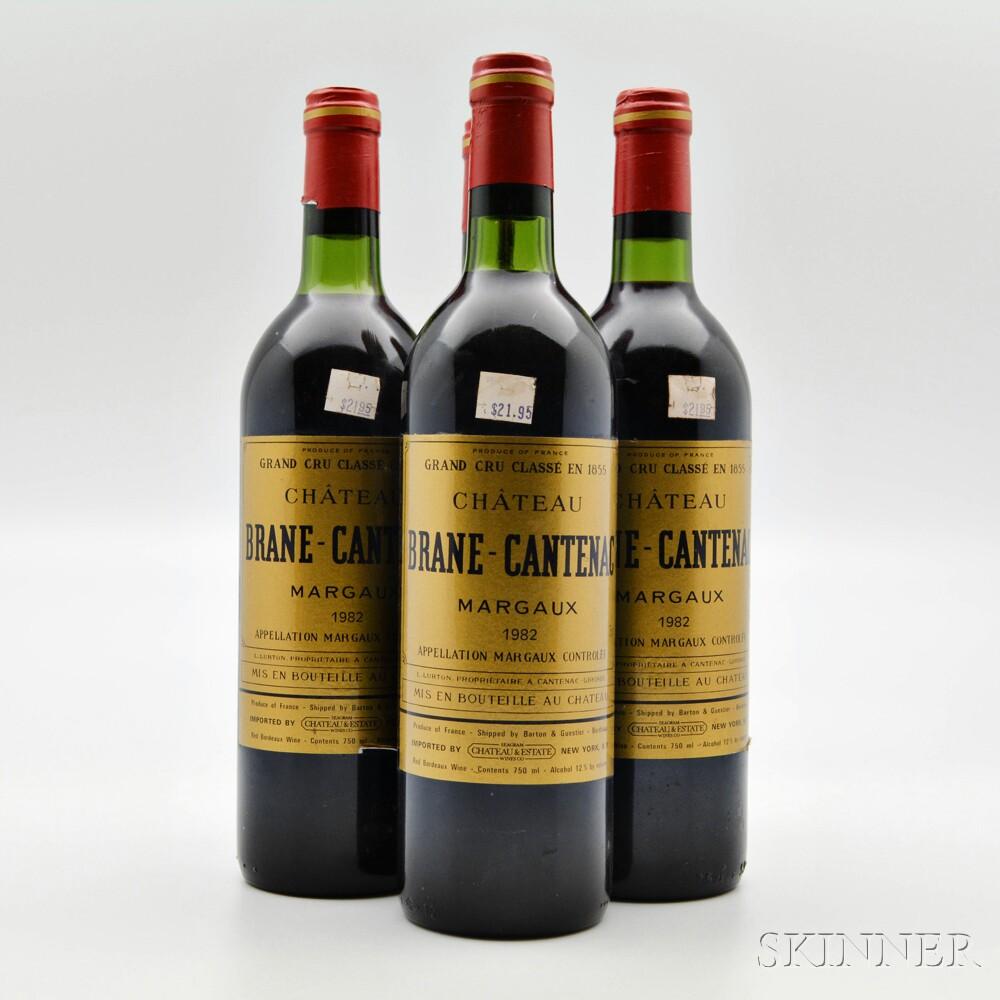 Chateau Brane Cantenac 1982, 4 bottles