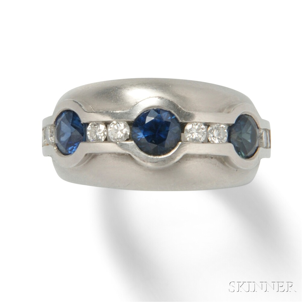 Platinum, Sapphire, and Diamond Ring, Kieselstein-Cord