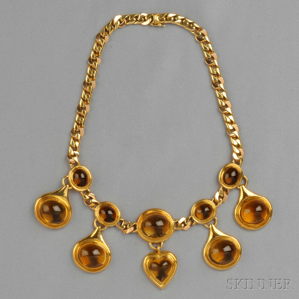 18kt Gold and Citrine Necklace