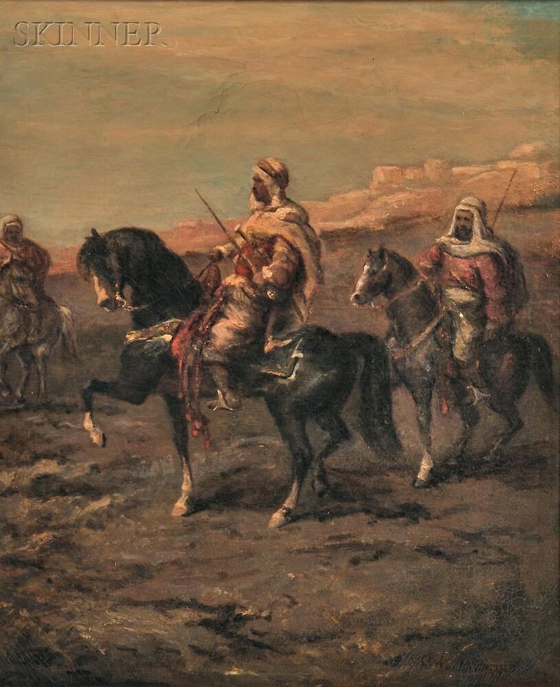 Attributed to Adolph Schreyer (German, 1828-1899)      Arab Horsemen