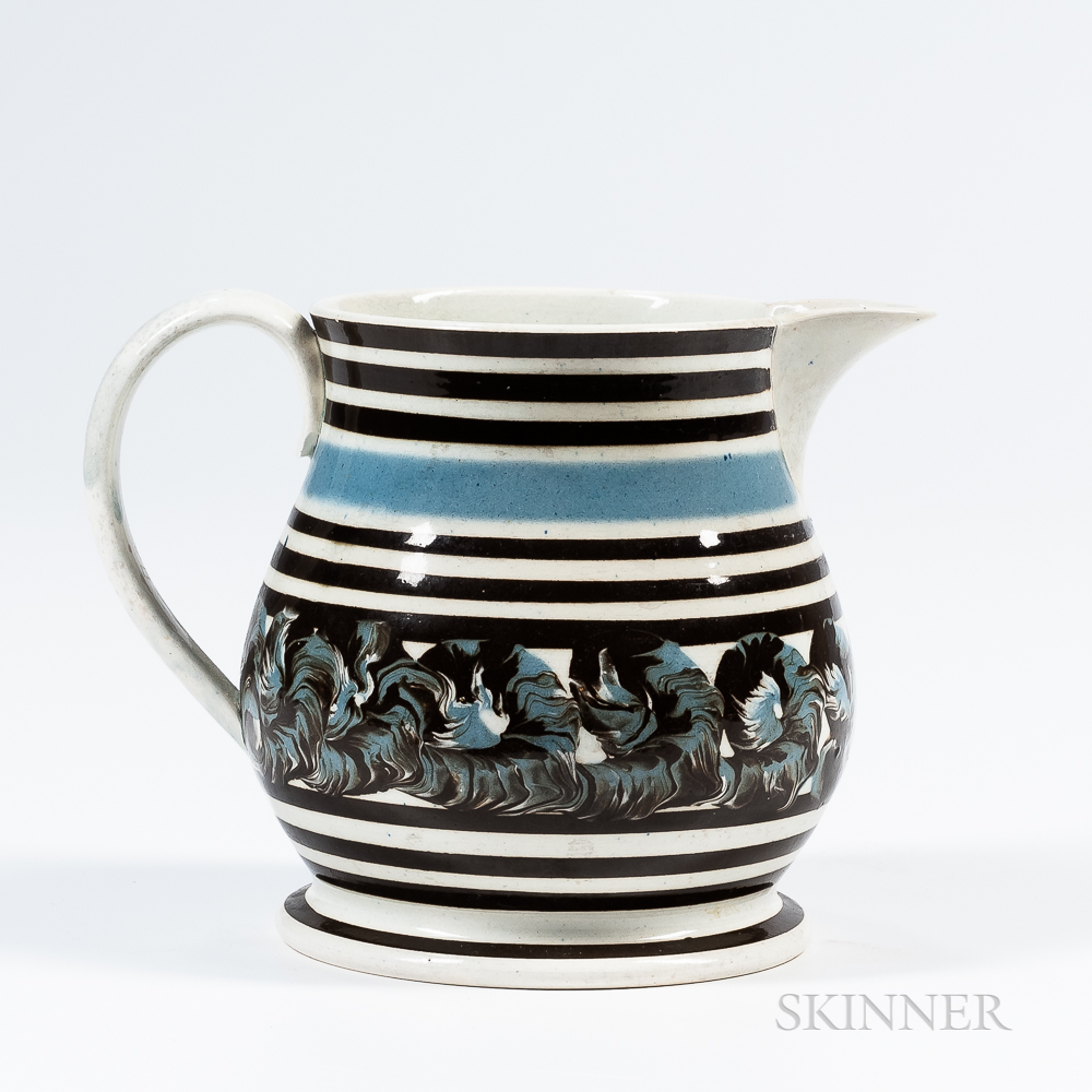 Earthworm Slip-decorated Pitcher