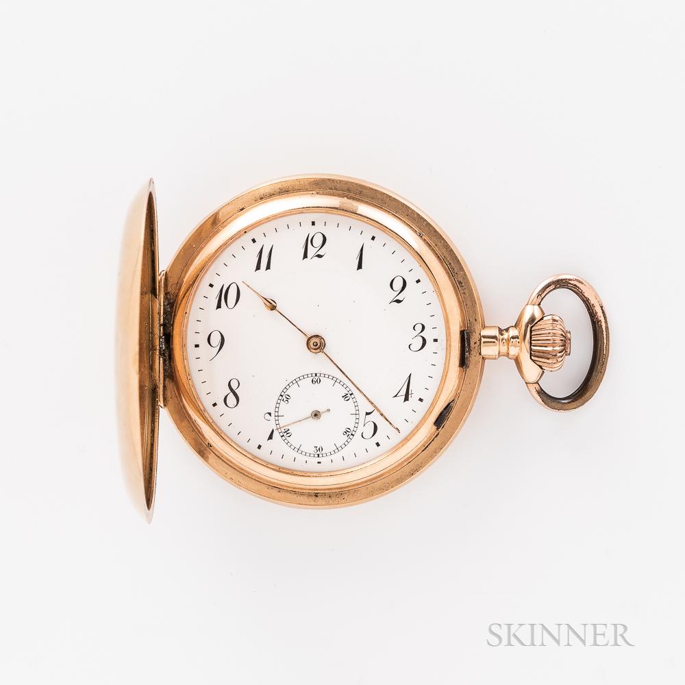 18kt Gold Hunter-case Watch