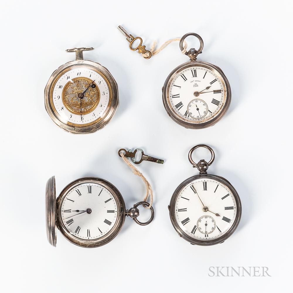 Four Key-wind Pocket Watches