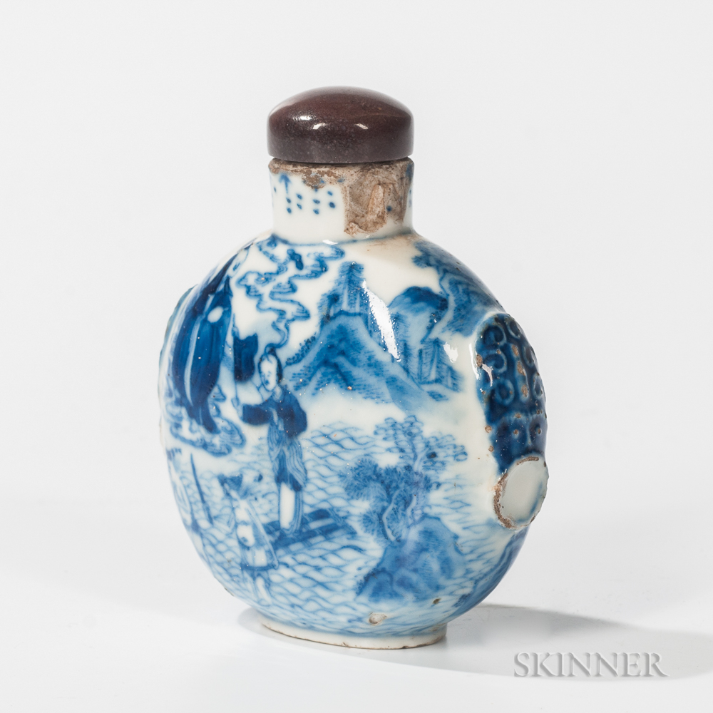 Blue and White Opium Bottle