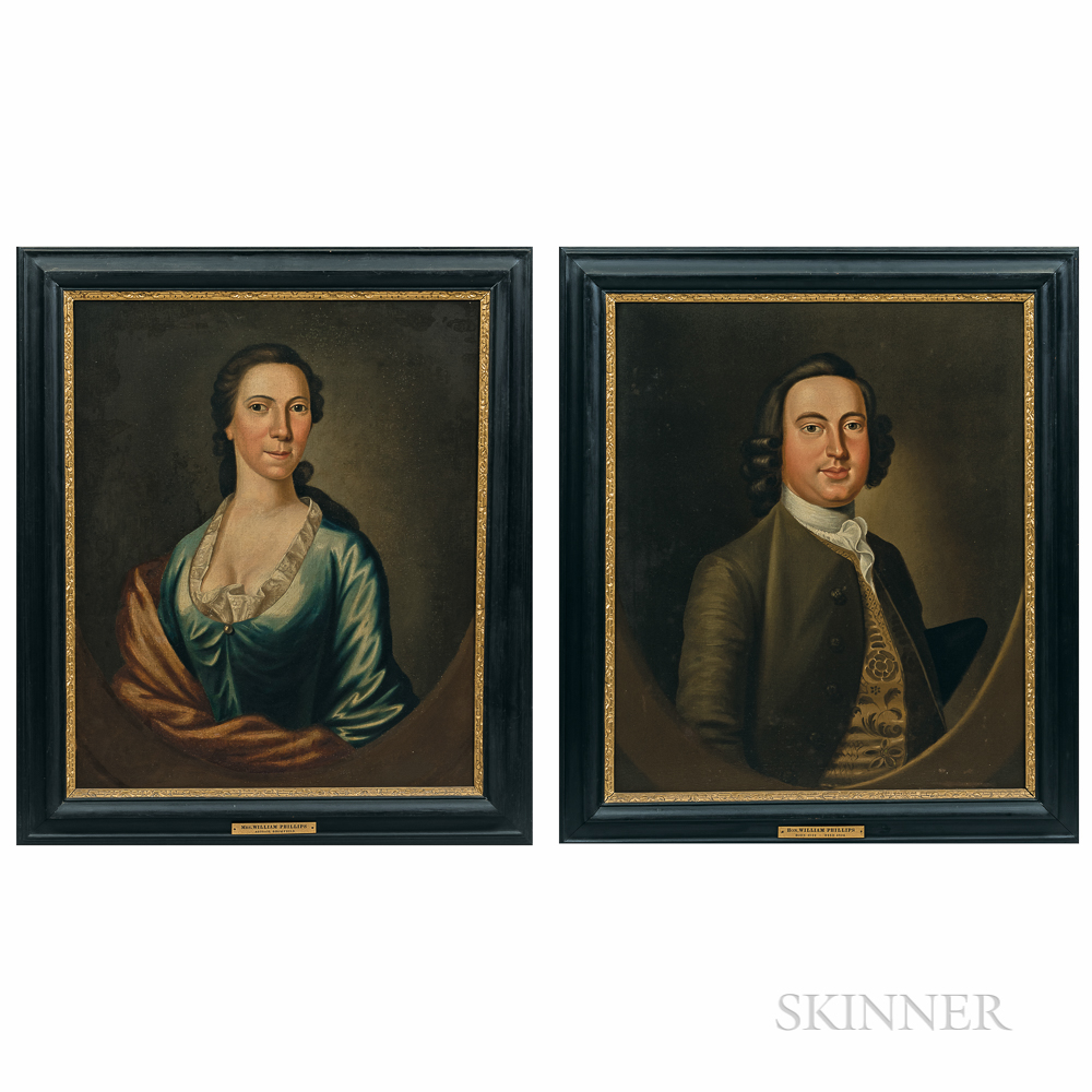 Attributed to John Greenwood (Massachusetts, 1727-1792), Portraits of Mr. and Mrs. William (1722-1804) and Abigail Bromfield Phillips (